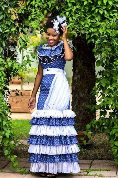 shweshwe weddings  traditional dresses  images