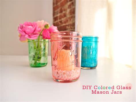 diy colored glass mason jars freutcake bloglovin