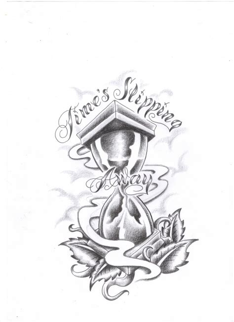 time tattoo ideas hourglass time designs sketch coloring page