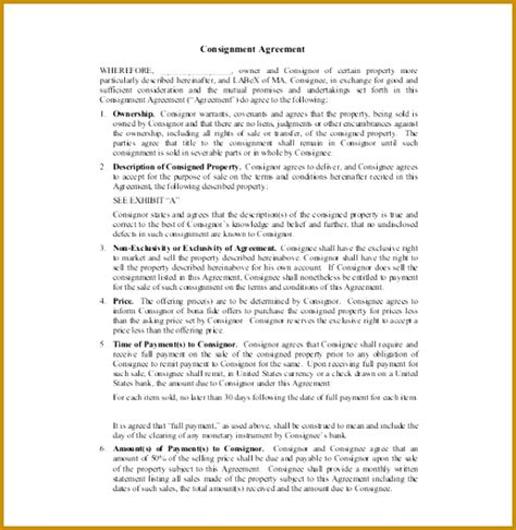 clothing consignment agreement template 6 clothing consignment agreement template fabtemplatez