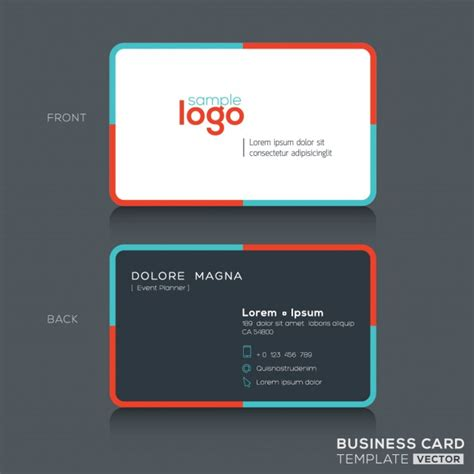 Colored Line Template Business Cards by Modern Business Card With Colored Lines Vector Free