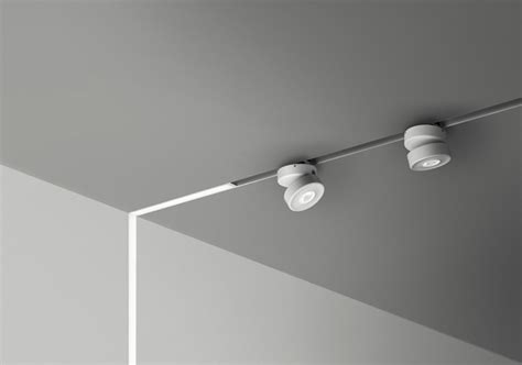 Innovative Lighting Fixture on a Low Voltage Power Magnetic Track by B Light Freshome.com