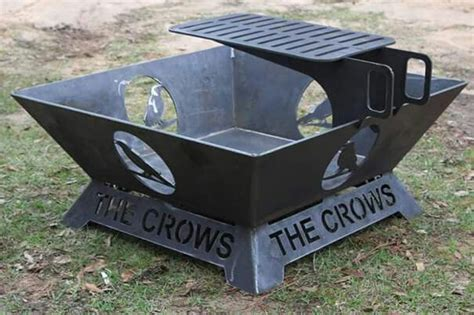 Steel Pits Australia pit made out of 1 4 inch steel custom artwork and text it has a large cooking surface