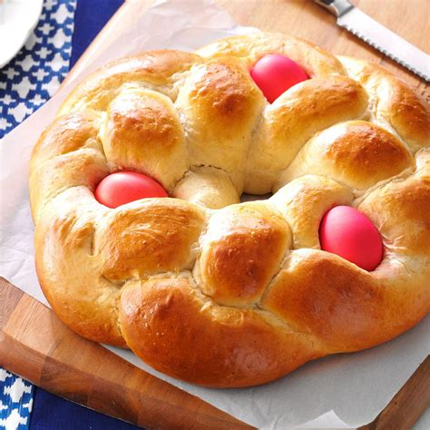 scow bread recipe easter egg bread recipe taste of home
