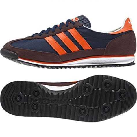 mens adidas originals sl72 navy orange casual fashion trainers shoes size 6 12 ebay