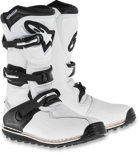 leather dirt bike boots alpinestars leather pair tech t road dirt bike