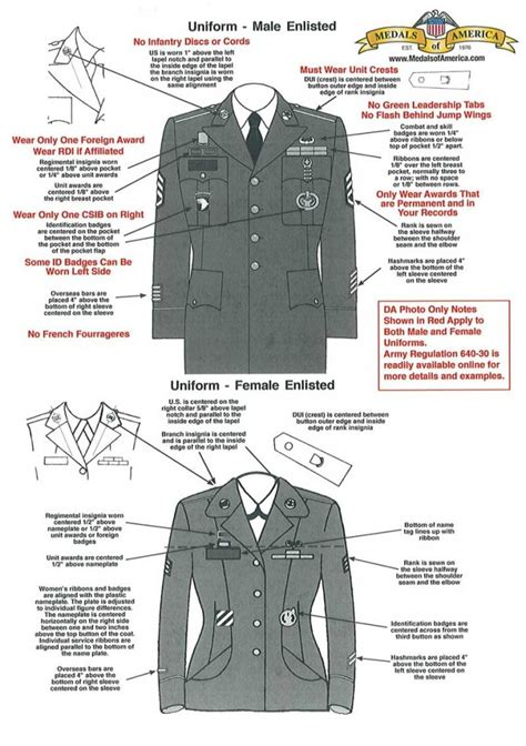 asu jacket layout army asu male female da photo guide patch placements