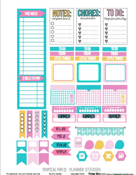 printable planner checklist stickers the ultimate list for beautiful free printable planner