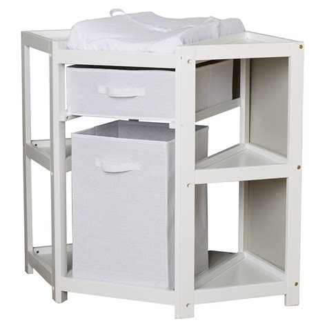 free standing baby changing table corner changing table white badger basket corner
