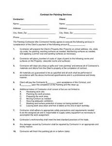 Painters Contract Template by 10 Best Images Of Sle Painting Contract Agreement Painting Contract Template Sles