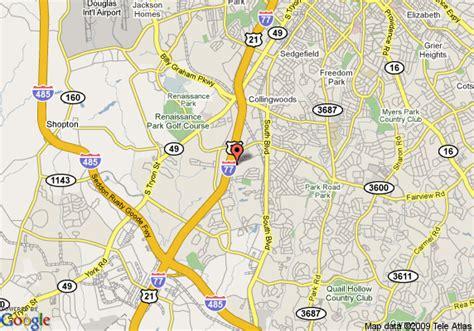 comfort inn westpark dr charlotte nc map of comfort inn executive park charlotte charlotte