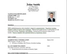 american cv template the standard resume format for a winning applicant