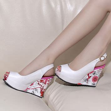 High Heels Wadges Lld 354 best floral wedge heels products on wanelo