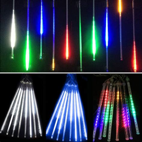 meteor shower lights outdoor 30cm waterproof led meteor shower snowfall 8