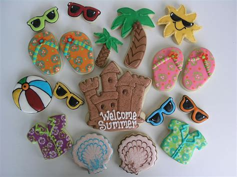 Summer Decorated Cookies by Summer Cookies Decorated Cookies