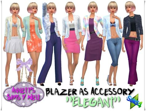 21 blazers as accessory at annett�s sims 4 welt 187 sims 4