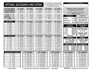 Metal Carport Price Sheet Carport Carport Price