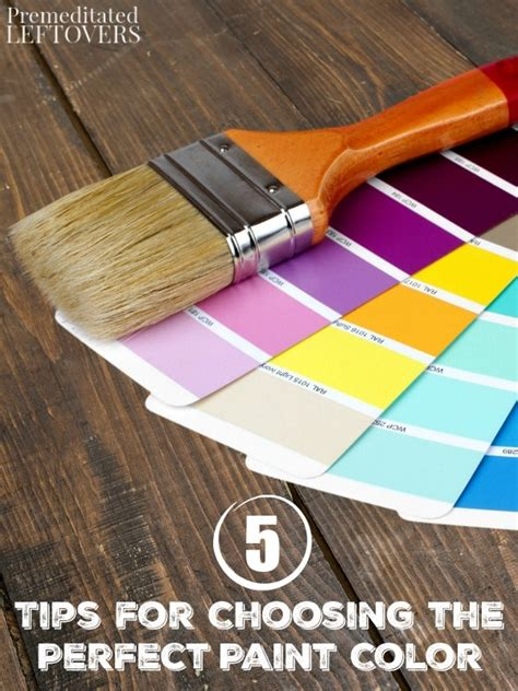 choose the perfect paint color 5 tips for choosing the perfect paint color