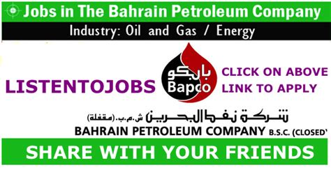 Mba Salary In Bahrain by And Gas Vacancies In Bapco Listentojobs
