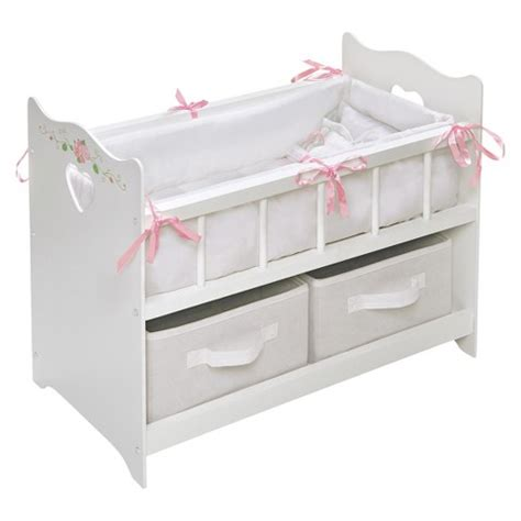 Doll Cribs And Beds Badger Basket White 18 Quot Doll Crib With Two Target