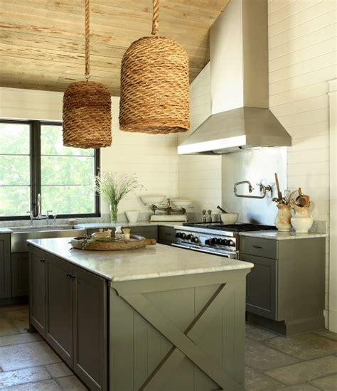 kitchen island cottage kitchen  iron gate