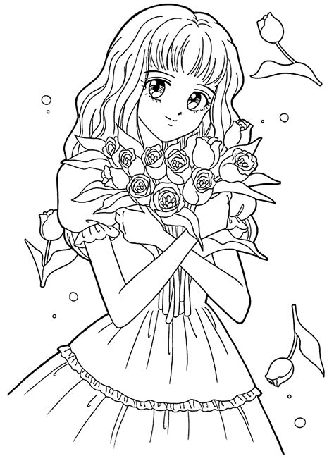 manga girl coloring page 13 best of anime girl coloring pages bestofcoloring com