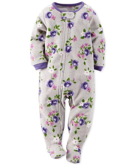 Piyama Carters Yellow Frog Pajamas footed pajamas for baby clothing
