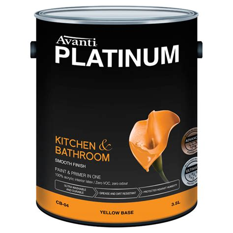 bathroom primer avanti platinum kitchen bathroom latex paint and