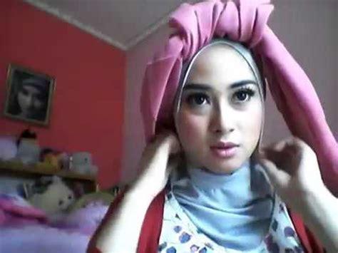 tutorial hijab turban ala fatin cara memakai turban hijab style ala fatin youtube