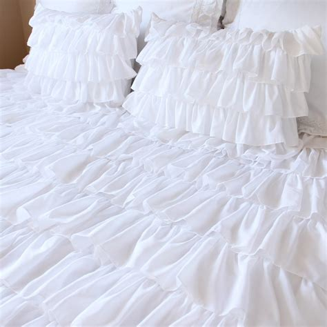 white ruffle bedding ruffle bedding