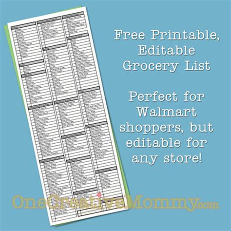 printable grocery list by aisle freebie friday printable grocery list onecreativemommy com