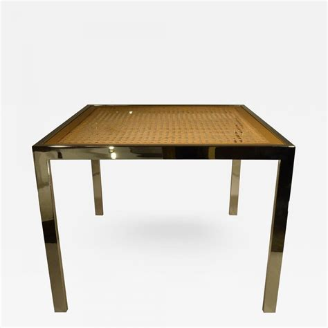 Wicker And Glass Dining Table Milo Baughman Mid Century Modern Chrome Glass Wicker Dining Table