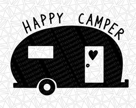 Happy Camper SVG DFX EPSpng files for cutting machines