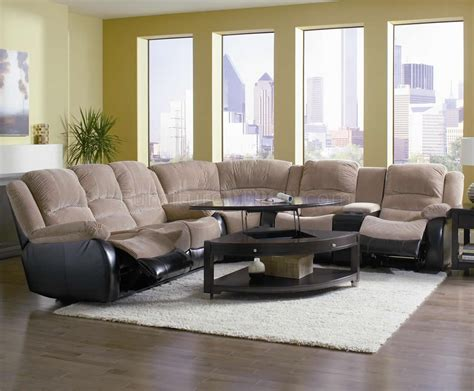 two tone reclining sofa espresso two tone modern reclining sectional sofa