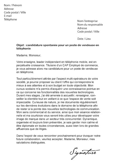 Lettre De Motivation Pour Vendeuse Chez Orange Lettre De Motivation Vendeuse En T 233 L 233 Phonie Mod 232 Le De Lettre