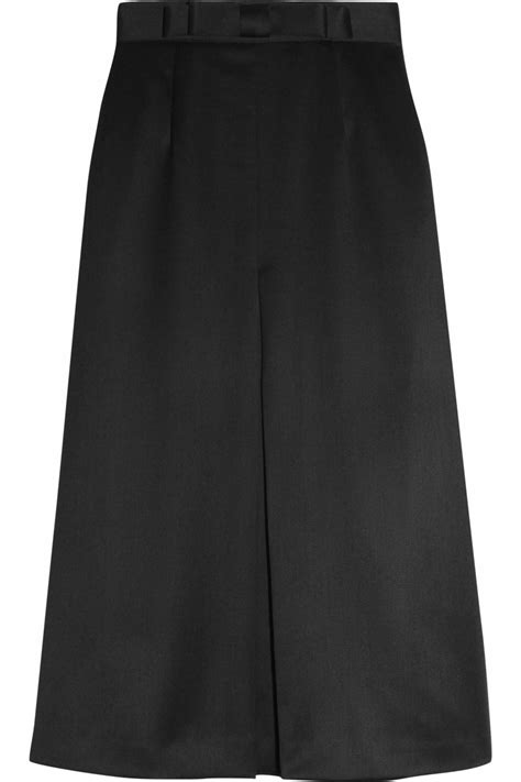 giulietta pleat front a line wool midi skirt in black lyst