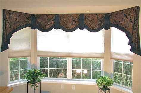 Office Window Valances Home Office Bay Window Valance Transitional Home