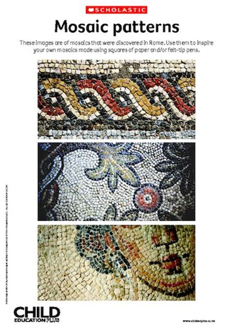 romans mosaic patterns primary ks1 ks2 teaching