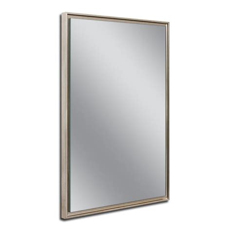 deco mirror 16 in w x 26 in h x 5 in d framed single deco mirror 26 in w x 38 in h chagne studio float