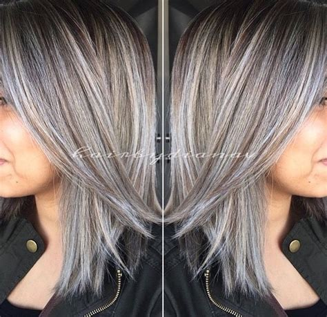 salt pepper hair with blonde streaks ideas 13 best blonde highlights for gray hair ideas images on