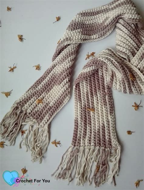 pattern you crochet easy ribbed scarf free pattern crochet for you