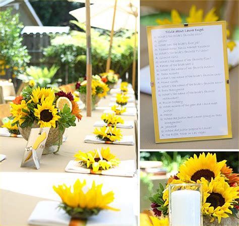Sunflower Themed Bridal Shower Ideas by Real The Tuscan Sun Bridal Shower