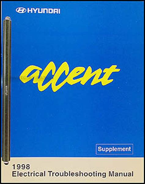 1998 hyundai accent original shop manual set l gs gl ebay 1998 hyundai accent electrical troubleshooting manual original