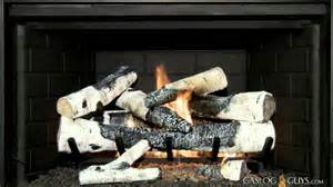 Birch Gas Fireplace Logs by Gear Birch Vented Gas Log Set