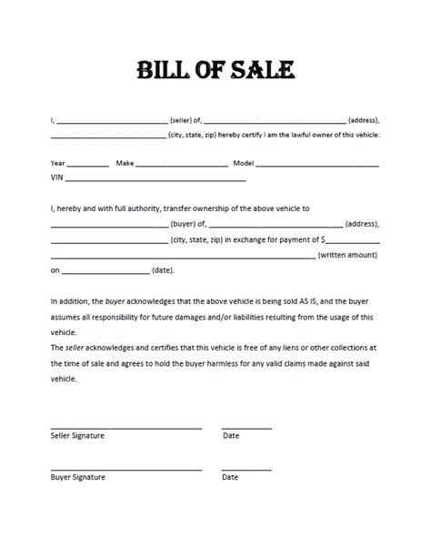 atv bill of
