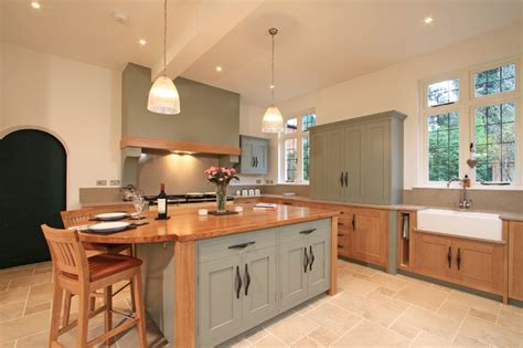farrow and ball kitchen ideas in frame oak painted shaker kitchen in farrow ball
