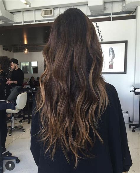 balayage dark brown hair with blonde highlights dark brown balayage straight hair