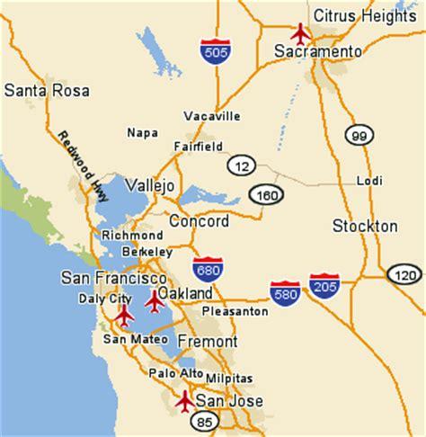 san jose to oakland map san francisco oakland map toursmaps