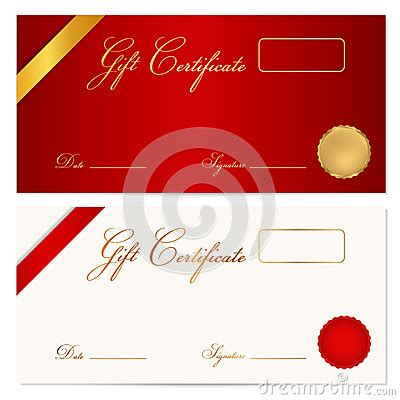money gift card template gift certificate voucher template wax seal royalty free