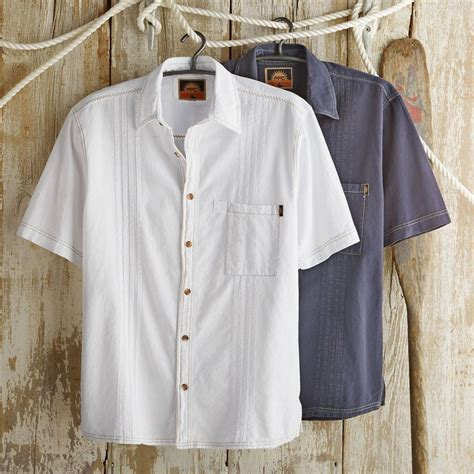Seven Shirt Natgeo peruvian cotton guayabera travel shirt from national